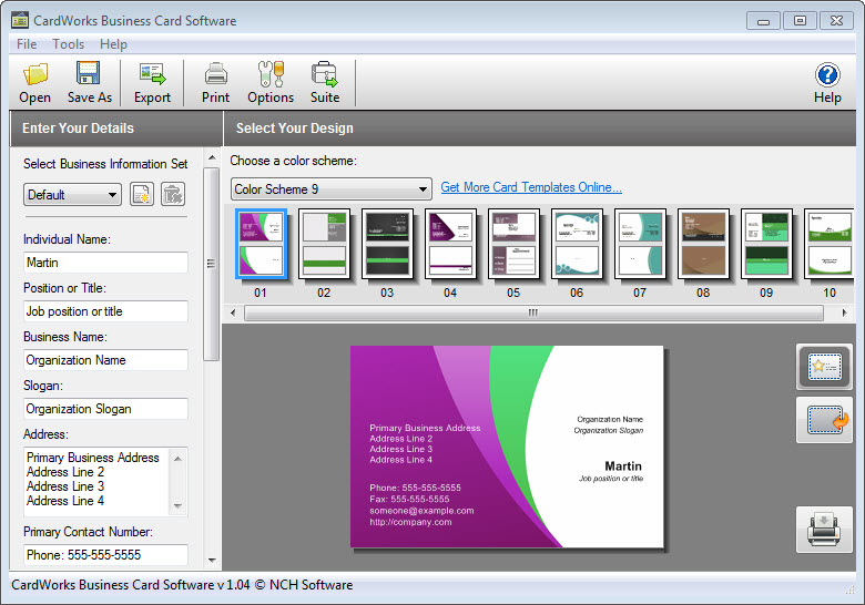 How to Make a Business Card with CardWorks Software - Online ...