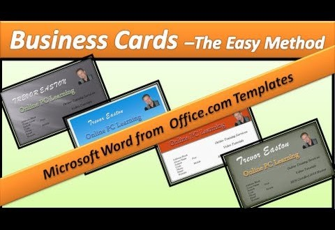 How To Make A Business Card With Microsoft Word Online Printing - Business card printing template word